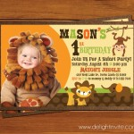 Safari Themed Birthday Party Invitations