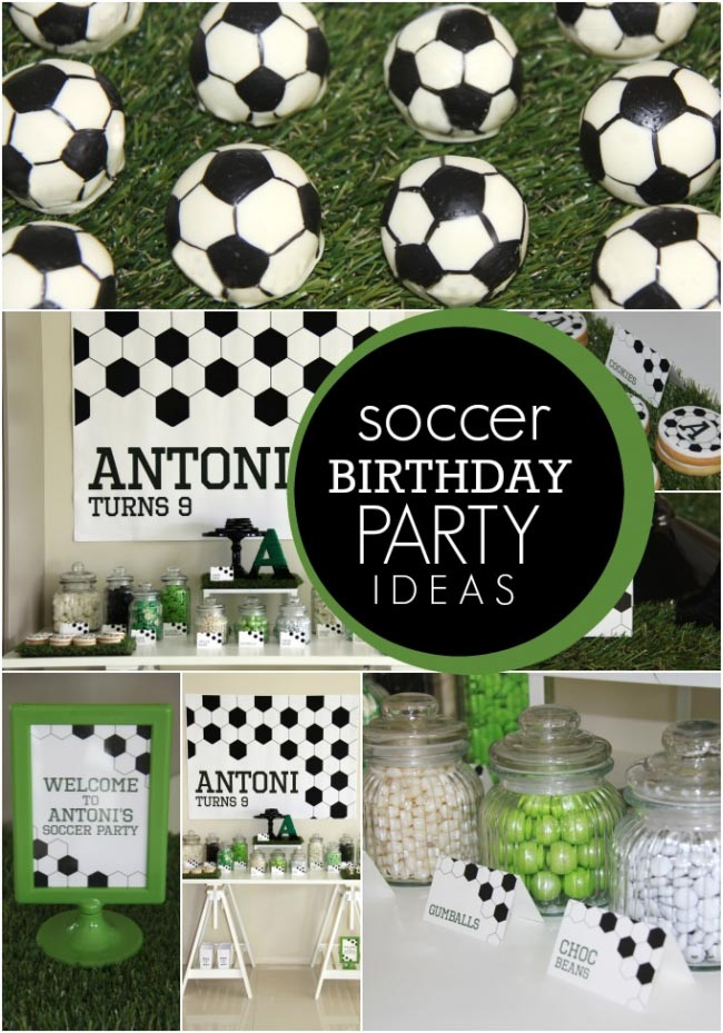 Soccer Themed Birthday Party Ideas