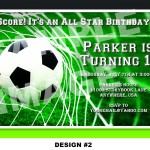 Soccer Themed Birthday Party Invitations