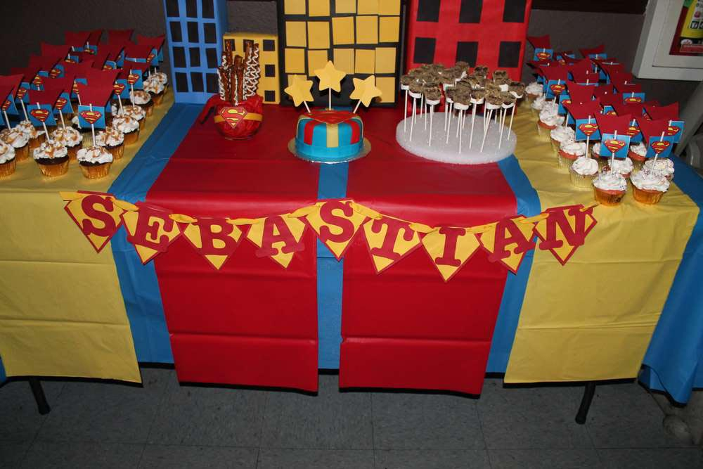 Superman 1st Birthday Party Ideas