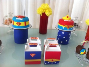 Superman and Wonder Woman Birthday Party