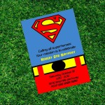 Superman Birthday Party Invitations