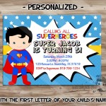 Superman Birthday Party Invitations Printable