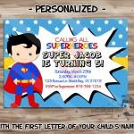 Superman Birthday Party Invitations Printable