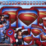Superman Birthday Party Plates