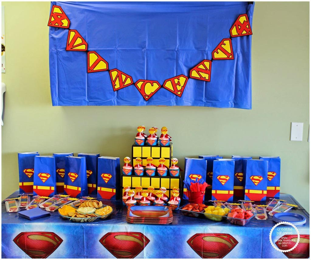 Superman Birthday Theme Party