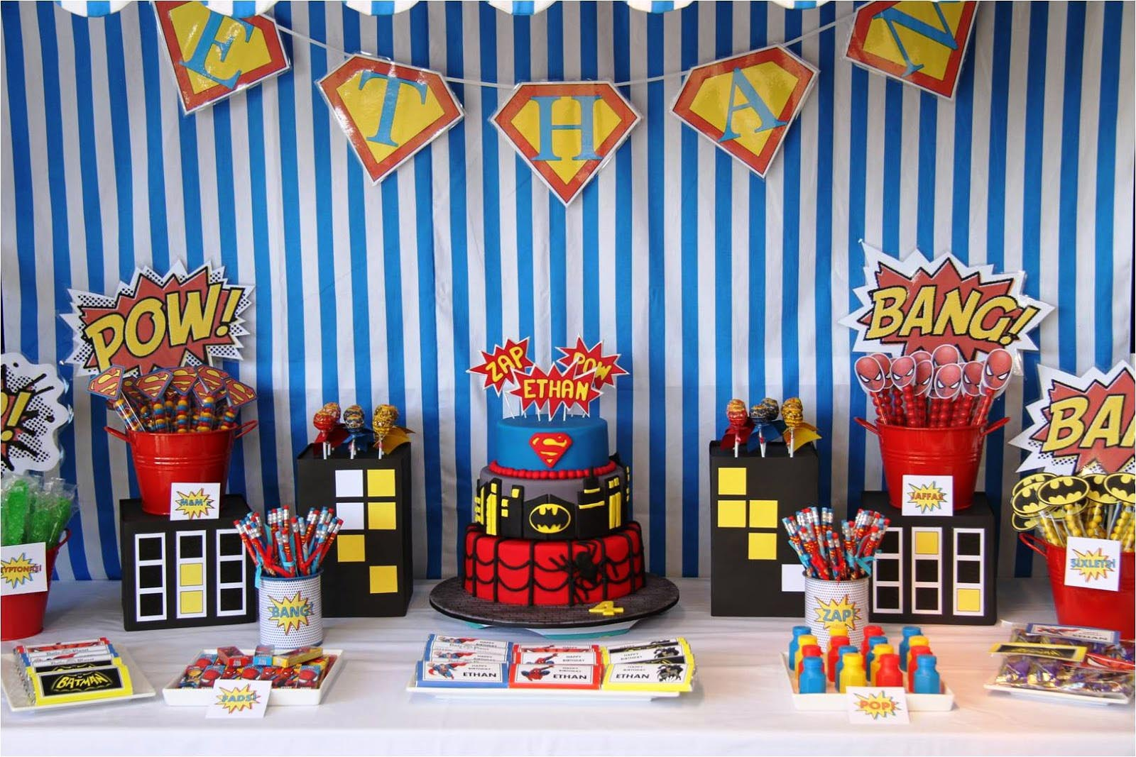 Superman Themed Birthday Party Decorations