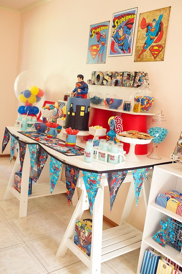 Superman Themed Birthday Party