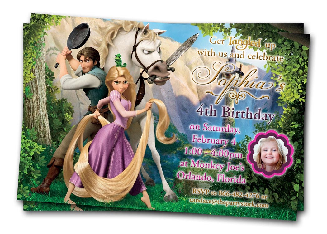 Tangled Birthday Party Invitations