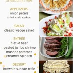 Themed Dinner Party Menus