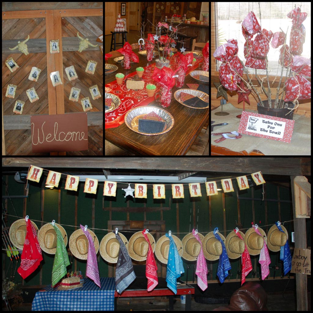Western Birthday Party Decorations