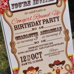 Western Birthday Party Invitations