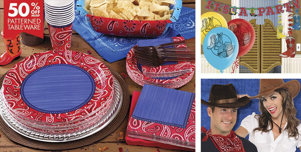 Western Birthday Party Supplies
