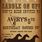 Western Themed Birthday Party Invitations